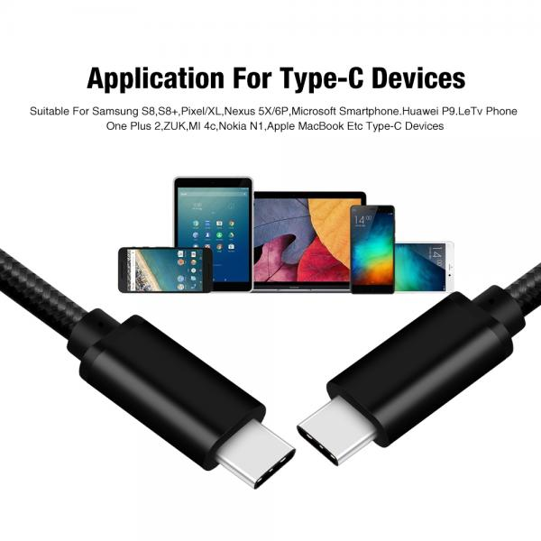 Picture of Type-C to Type-C 5Gbps 60W usb cable(black)